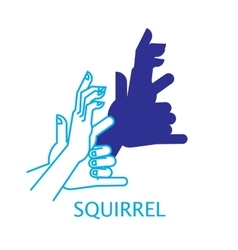Shadow Hand Puppet Squirrel vector image vector image