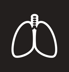 Stylish black and white icon human lungs vector