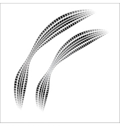 Tire tracks with gradient vector