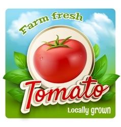 Tomato promo poster vector