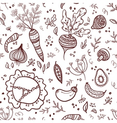 Vegetables seamless pattern vector