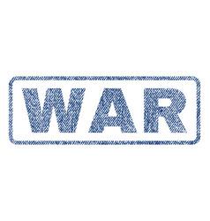 War textile stamp vector