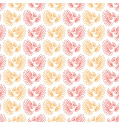 Seamless pattern with firebird vector
