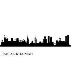 Ras al-khaimah city skyline silhouette background vector