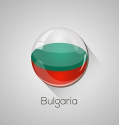 European flags set - bulgaria vector