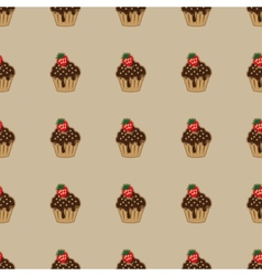 Choco cake brown seamless pattern vector