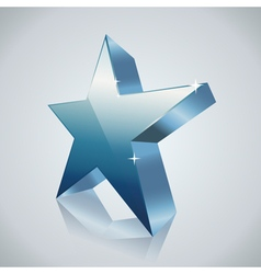 3d star blue vector