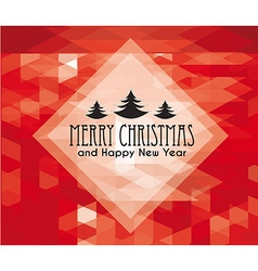 Christmas and new year themed frame vector