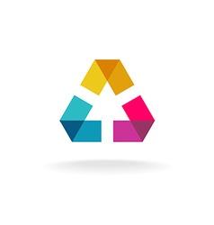 Abstract geometric logo vector