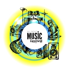 Music background hand drawn vector