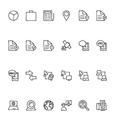 Media Hand Drawn Doodle Icons 5 vector image