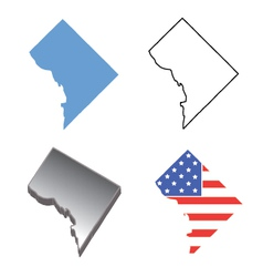 State Map of Washington DC vector image