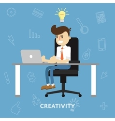 Creative ideas business concept vector image