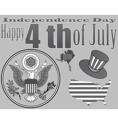 Emblem to the us independence day vector