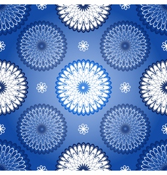 Repeating dark blue vintage pattern vector image