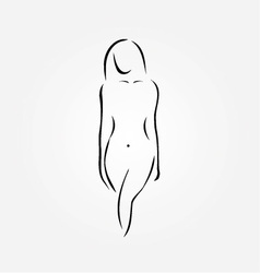 A nude woman vector image