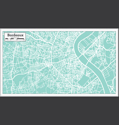 Bordeaux france city map in retro style vector