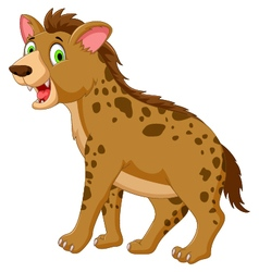 cute hyena cartoon posing look at camera vector image