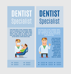 dentist specialist vertical flyers vector image