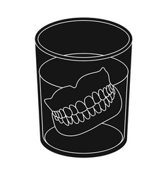 denturesold age single icon in black style vector image vector image
