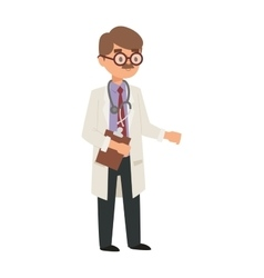 Doctor cartoon vector image
