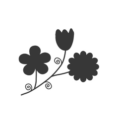Flower garden decoration floral icon vector
