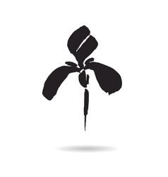 flower logo floral background stylized vector image vector image