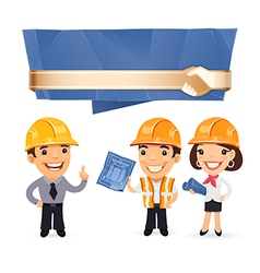 foremen with speech bubble vector image