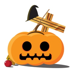 Halloween Pumpkins cartoon vector image vector image