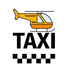 Helicopter taxi transport poster vector image vector image