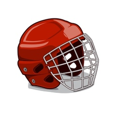 Hockey Protection Helmet vector image