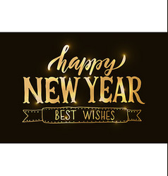 Lettering Happy New Year for ChristmasNew Year vector image vector image