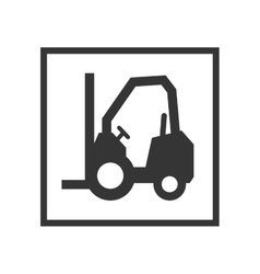 Lift truck sign vector