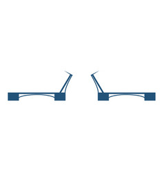 moveable or movable bridge moves to allow passage vector image