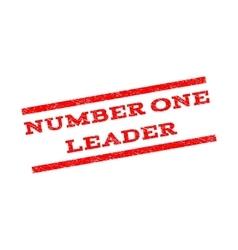 Number one leader watermark stamp vector