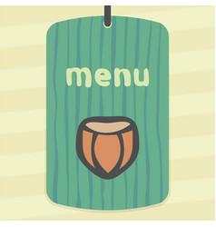Outline hazelnut icon modern infographic logo vector