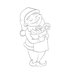 outlined dwarf vector image vector image