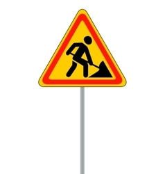 Road signs Roadworks on vector image vector image