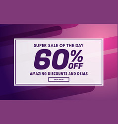 Sale banner voucher template design with offer vector