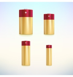 Set of colored battery icons vector image