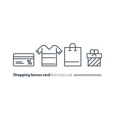 shopping special offer bonus card loyalty program vector image vector image