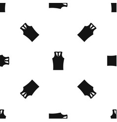 Sleeveless shirt pattern seamless black vector