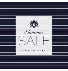 Summer Sale poster on striped background vector image vector image