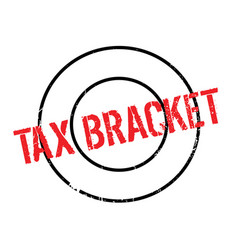 Tax bracket rubber stamp vector