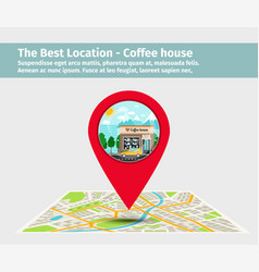 The best location coffee house vector