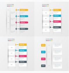 timeline design 4 item yellow blue pink color vector image vector image