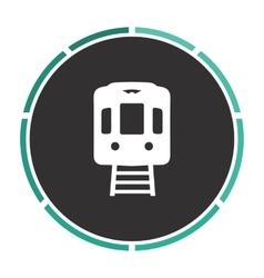Train computer symbol vector image vector image