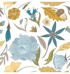 Vintage Fall Floral Pattern vector image