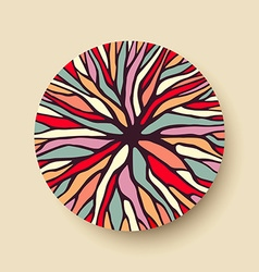 Abstract color tree branches in geometric shape vector image