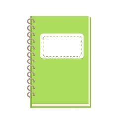 Spiral notebook in flat design vector